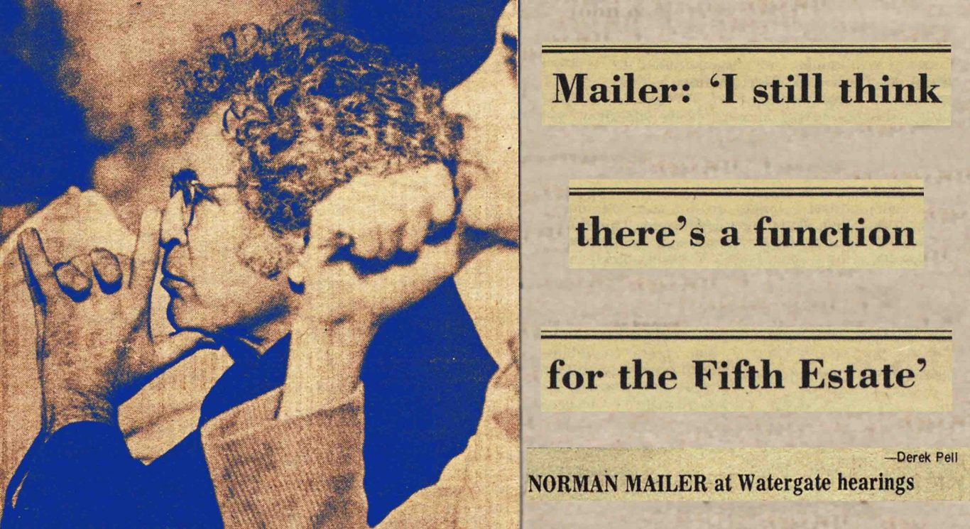 1973 Village Voice article by Norman Mailer about the press during the Watergate era