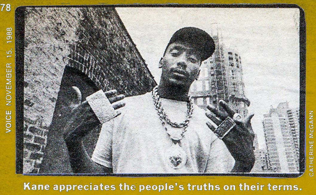 1988 Village Voice article by Harry Allen about Big Daddy Kane