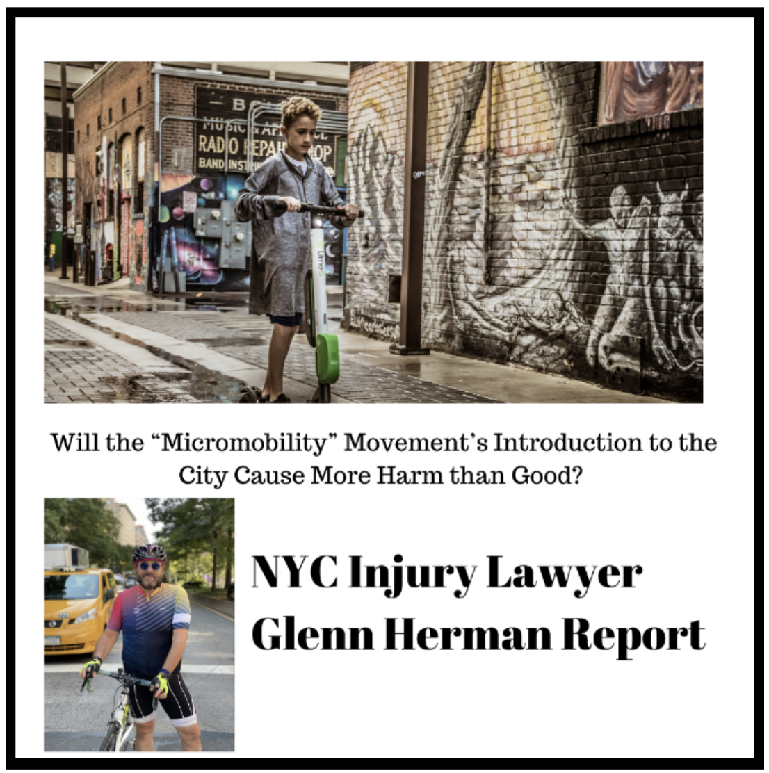 Manhattan E-Bike Injury Lawyer Chimes on: Scooter Sharing Arrives in New York City